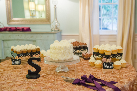 Dessert Bar with Small Ruffled Cake