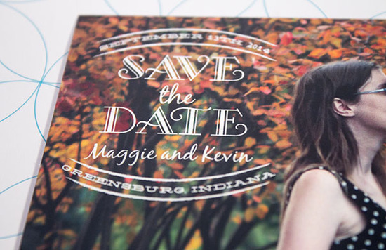 Maggie & Kevin - Save the Date Closeup