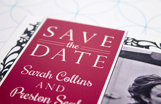 Sarah & Preston - Save the Date Closeup
