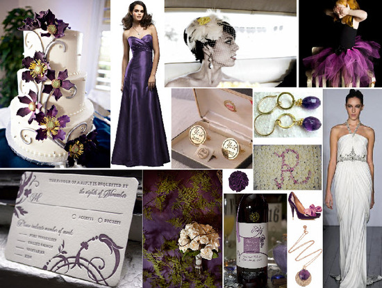 Purple, gold and yellow wedding inspiration with a vintage-vibe!