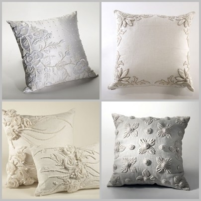 Gorgeous Ankasa pillows made from previously worn wedding dresses- chic and eco-friendly
