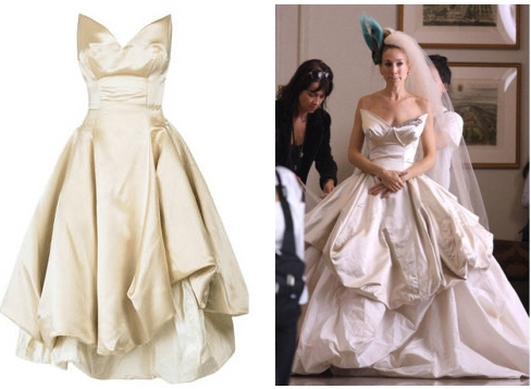 The Vivienne Westwood wedding dress that Carrie Bradshaw wore in the SATC Movie- shortened and redes