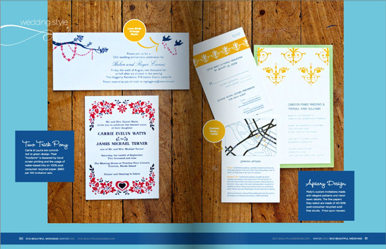 Eco Beautiful Weddings Invitations