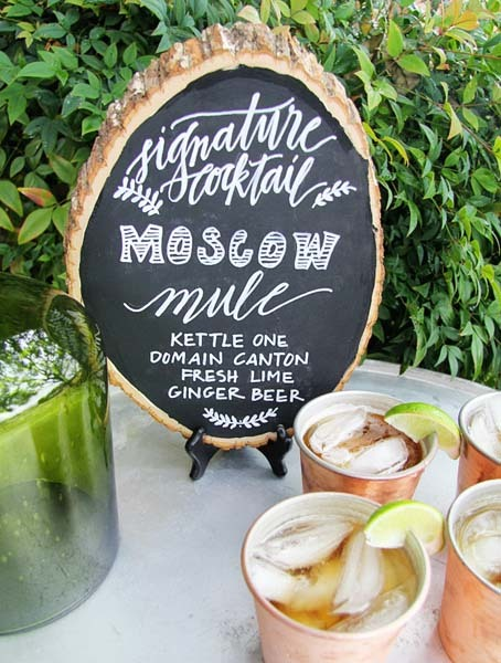 chalkboard signature drink sign -the knot