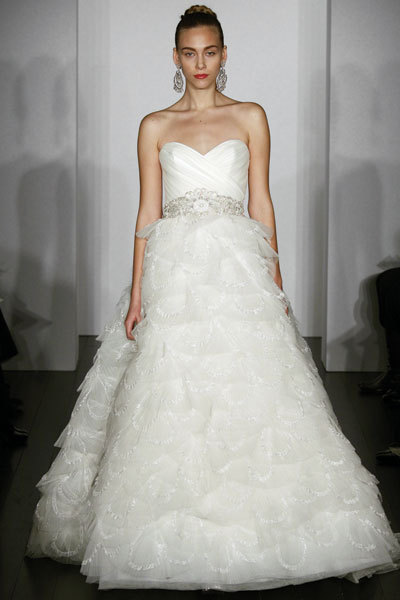 Kenneth Pool wedding dress- Mesmerized, tulle ballgown with softly draped bodice