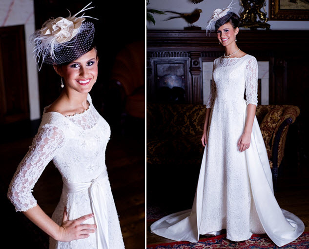 Modest-wedding-dresses-three-quarters-sleeve-lace-a-line.full