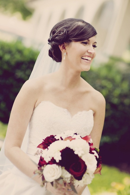 The Beautiful Bride and Bouquet
