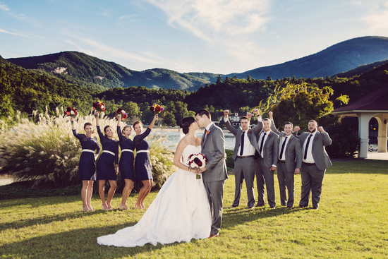 photo of A Vintage Glam Wedding by the Lake
