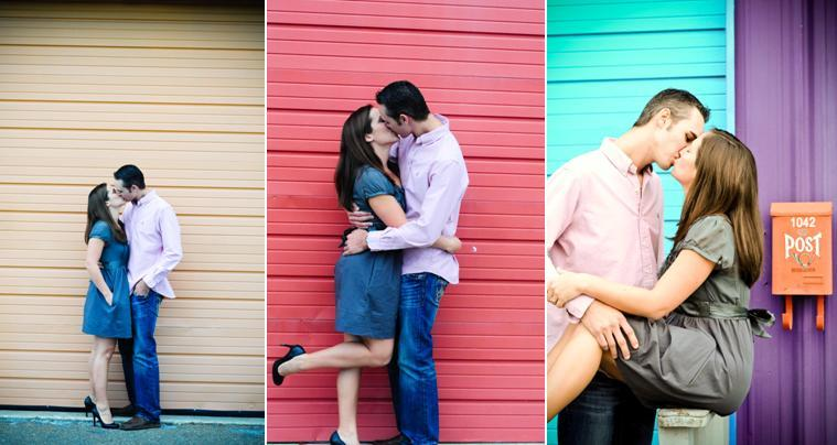 Talahassee-florida-colorful-outdoor-engagement-session-red-aqua-turquoise-purple-orange-nearlyweds-kiss.full