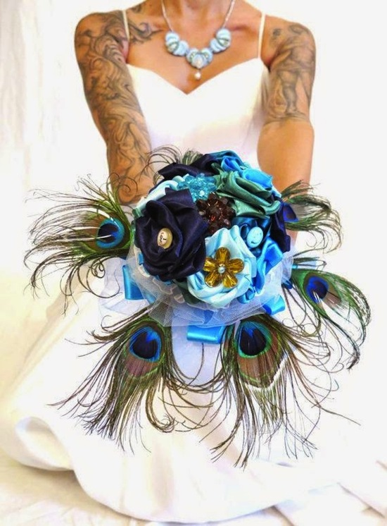 Unconventional Peacock Bouquet