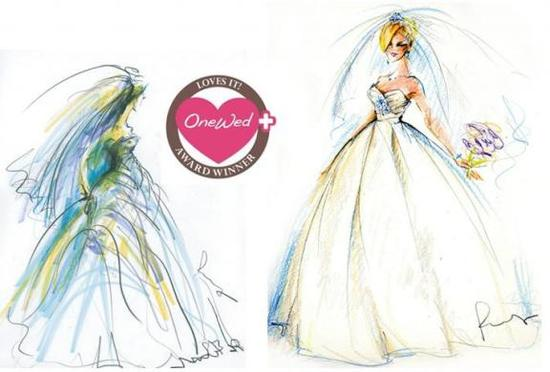 How would you like to have a hand-created illustration of you in your wedding dress?