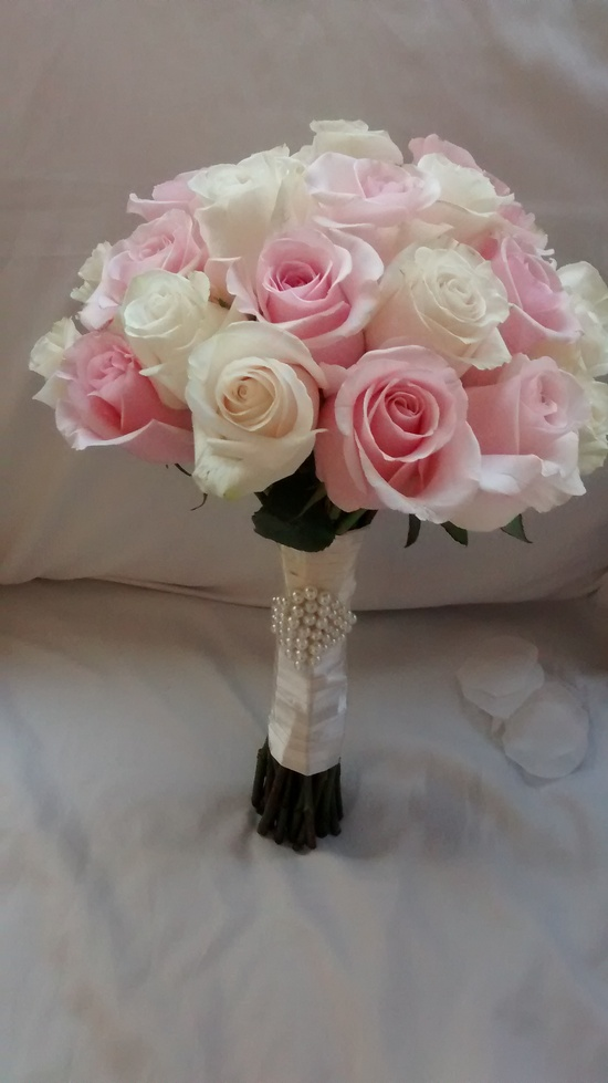 Light Pink & Creme Pearl Bouquet
