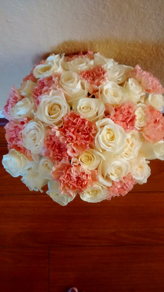 Coral Bride Bouquet