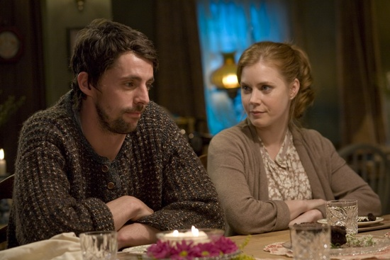 Does Amy Adams think Matthew Goode is the one in the new movie Leap Year?