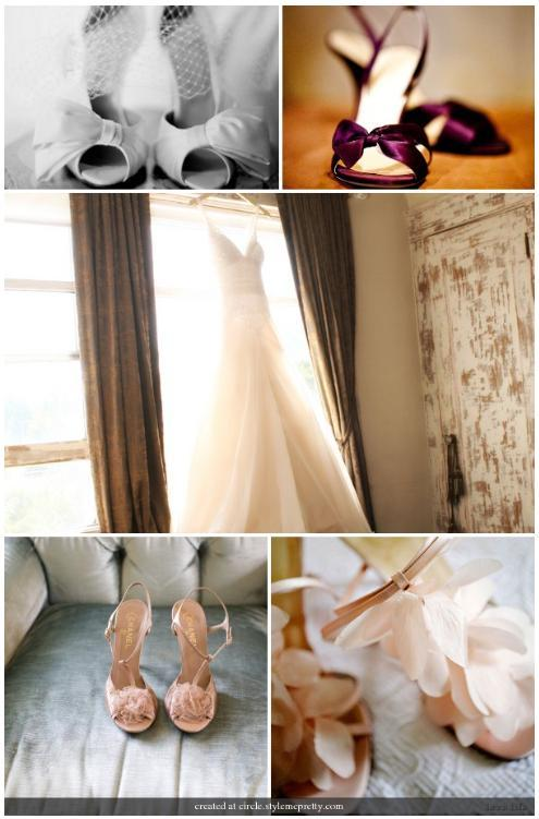 Bridal Shoes And More Lovely Cream Peep Toes With Beautiful Bow Wine Colored Slip On