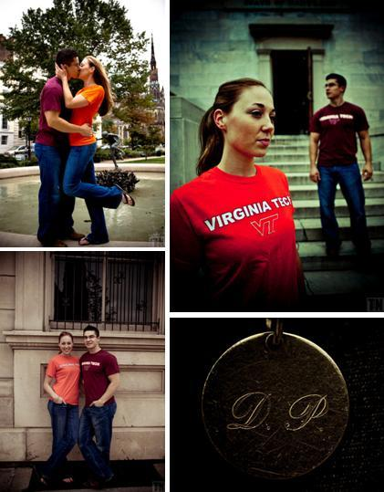 Tn-engagement-photo-session-alumni-t-shirts-casual-kiss-in-front-of-fountain.full