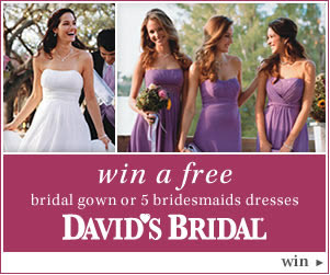 Win a free wedding dress or bridesmaids' dresses at David's Bridal