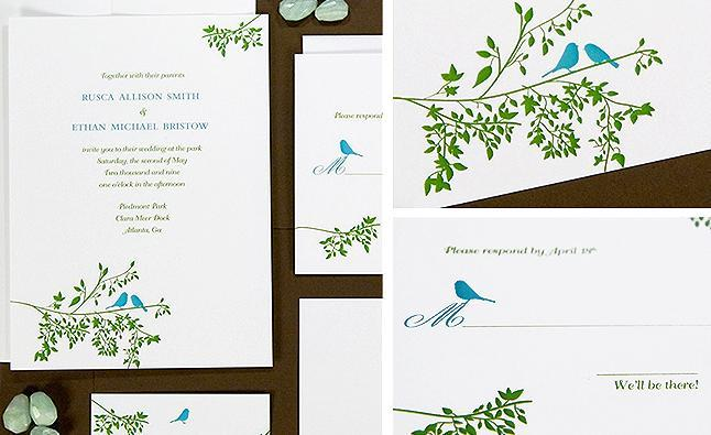 Beautiful-chic-eco-friendly-wedding-invitations-stationery-white-green-blue-chocolate-brown-birds-nature.full
