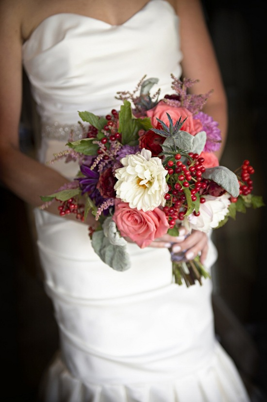 Red Pink and Purple Bouquet
