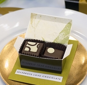 Delicious fair trade organic chocolates- perfect wedding favors for your guests!
