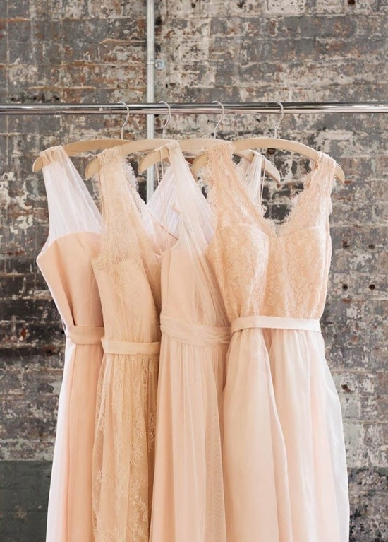 Blush Dresses Hanging