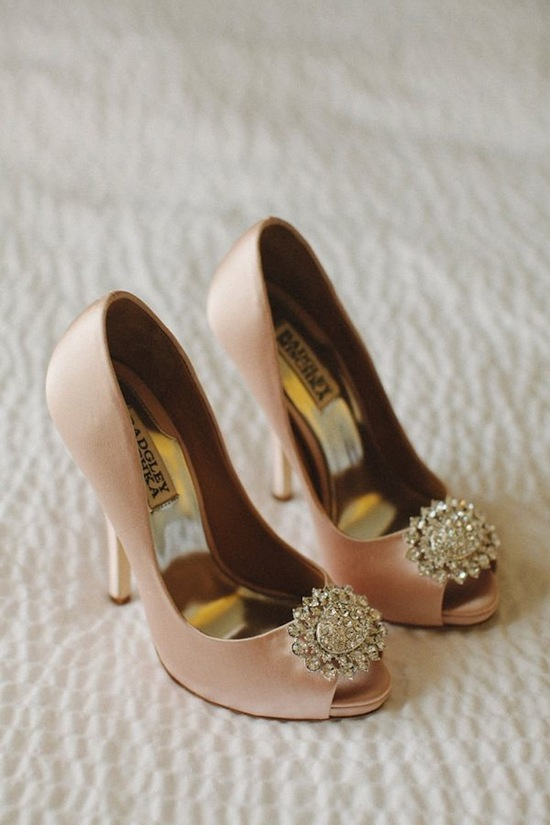 Blush Shoes with Bling