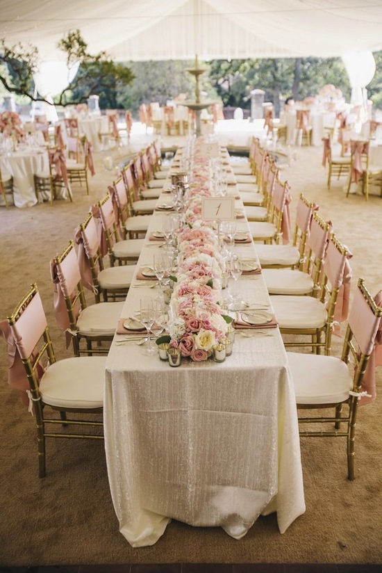 Blush Reception Decor