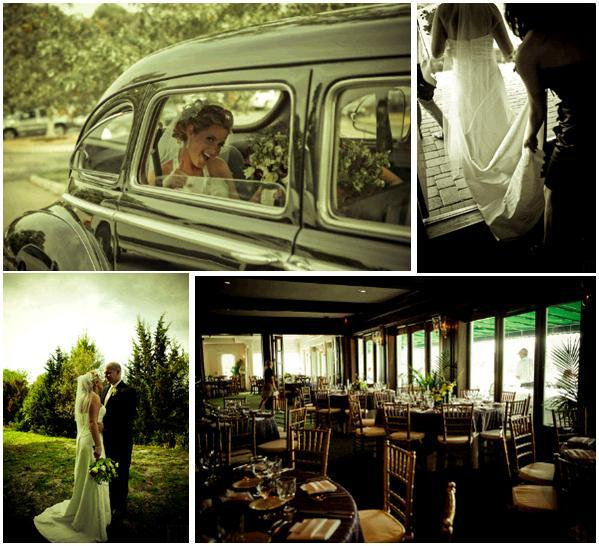Tn-bride-in-antique-car-vintage-vibe-white-halter-wedding-dress-tablescape-gold-chocolate-brown.full