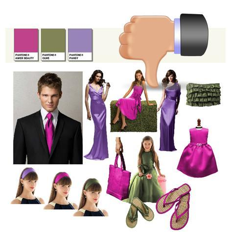 How NOT to create your Dessy/Pantone wedding style board!