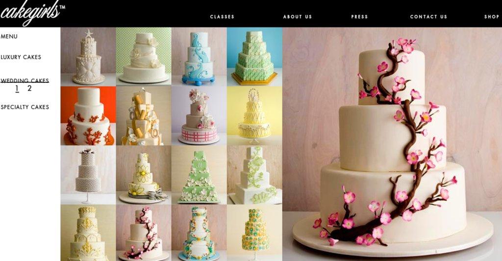 Stunning Spring Wedding Cakes By Cakegirls
