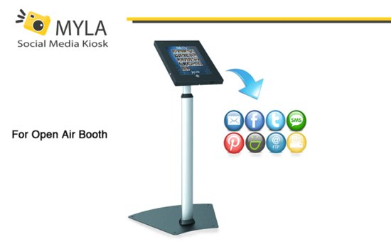 MYLA PhotoBooth Social Media Kiosk for Open Air