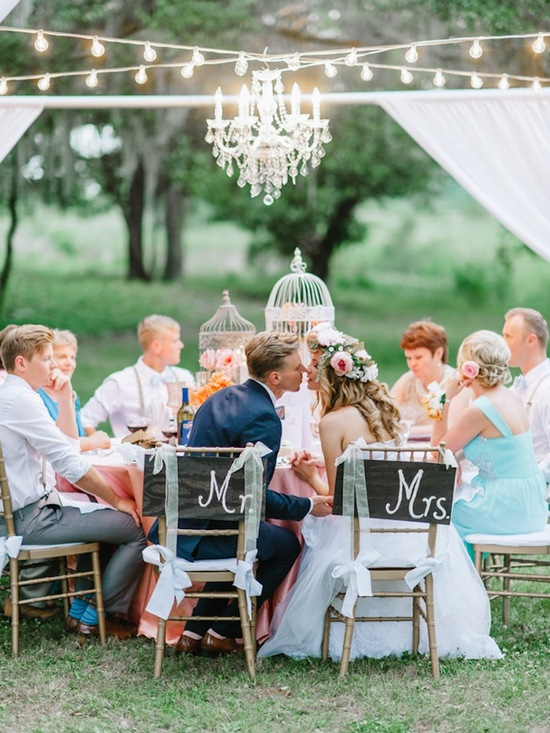 Beautiful Tented Reception and Love