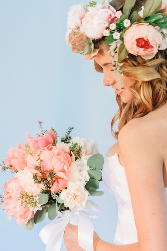 Beautiful Bride with Hints of Pink