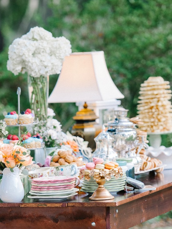 Unique and Vintage Dessert Table