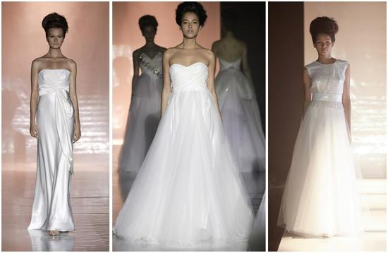Stunning white strapless wedding dress with a full tulle ...