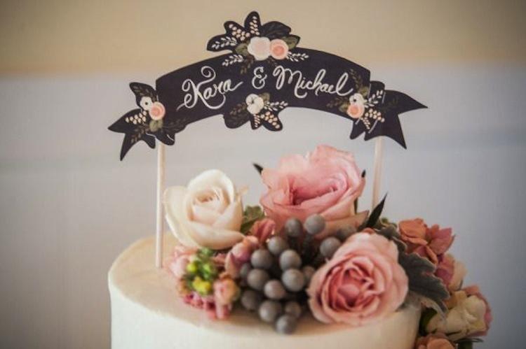 Топпер на свадебный торт своими руками