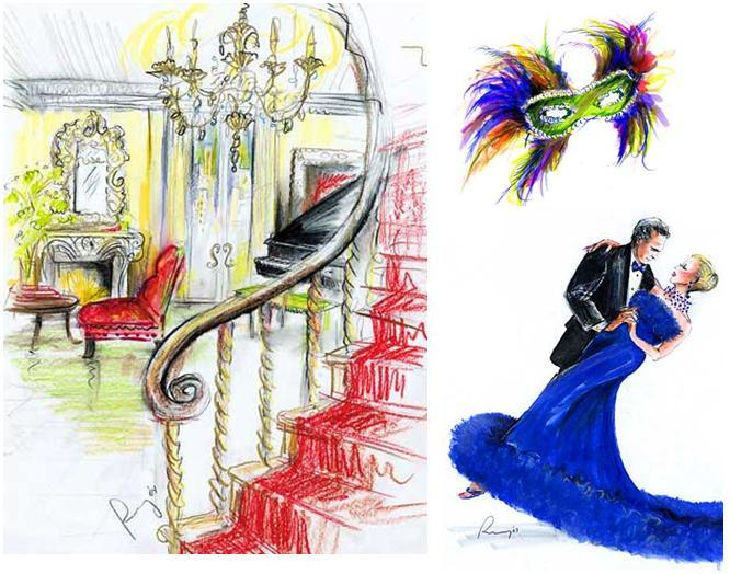Rosemary-fanti-wedding-event-illustrator-wedding-reception-colorful-blue-evening-gown.full