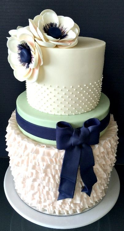 Wedding Cake - love the texture and colour!