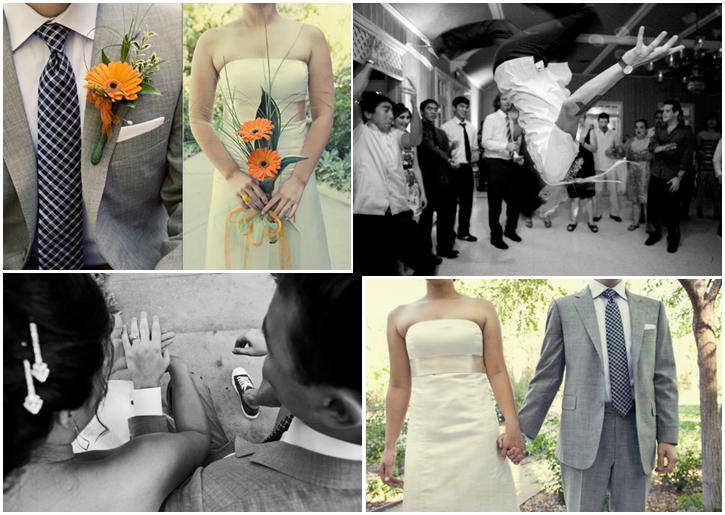 Jagger-vintage-feel-wedding-photography-casual-outdoor-grey-blue-orange-flowers-black-and-white-breakdancing-grey-suit.full