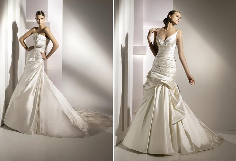 Medea-medina-spring-2010-wedding-dresses-pronovias-deep-v-neck-drop-waist-origami-bow.full