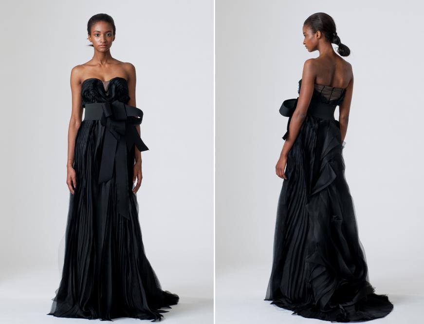 Black Wedding Gowns: Black Strapless Wedding Dress From Vera Wang's Spring 2010