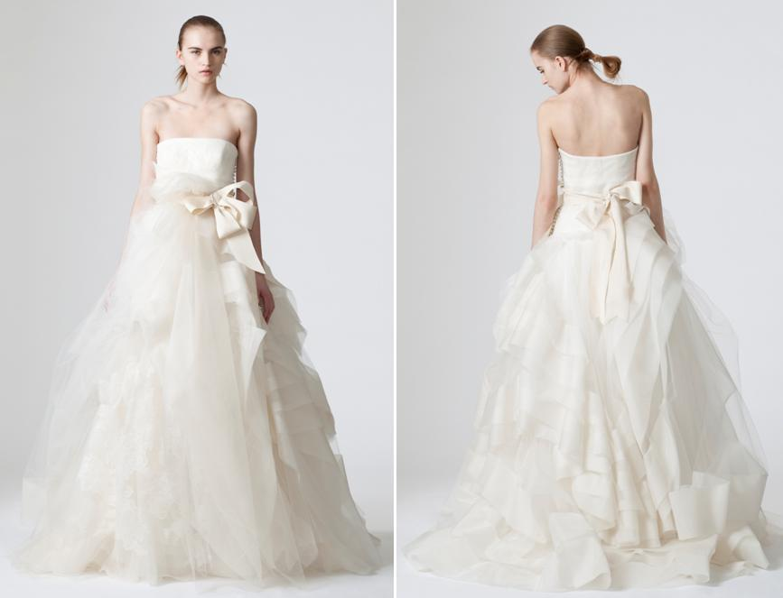 Romantic and whimsical white strapless wedding dress from for Best vera wang wedding dresses