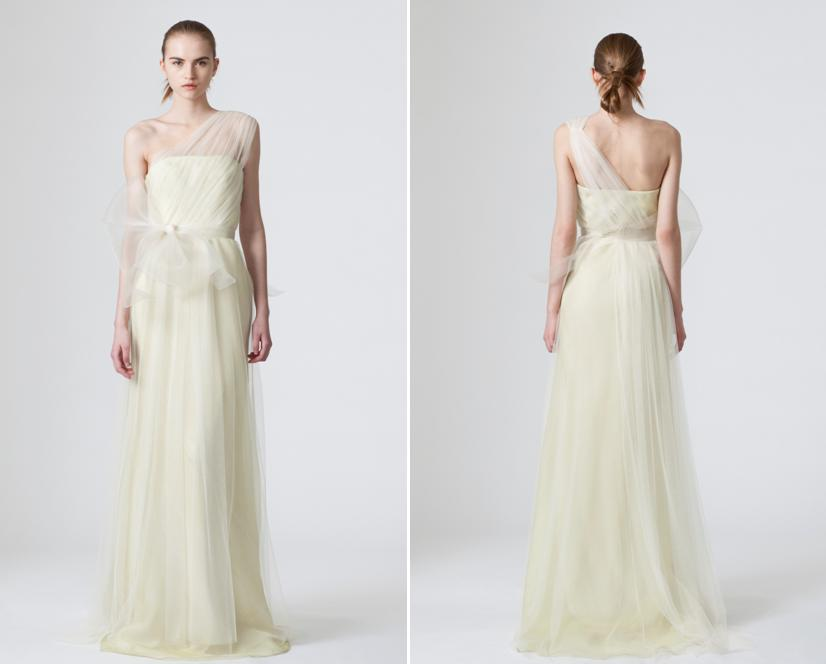 Simple sheeth wedding dress from vera wang with one for Wedding dresses one strap