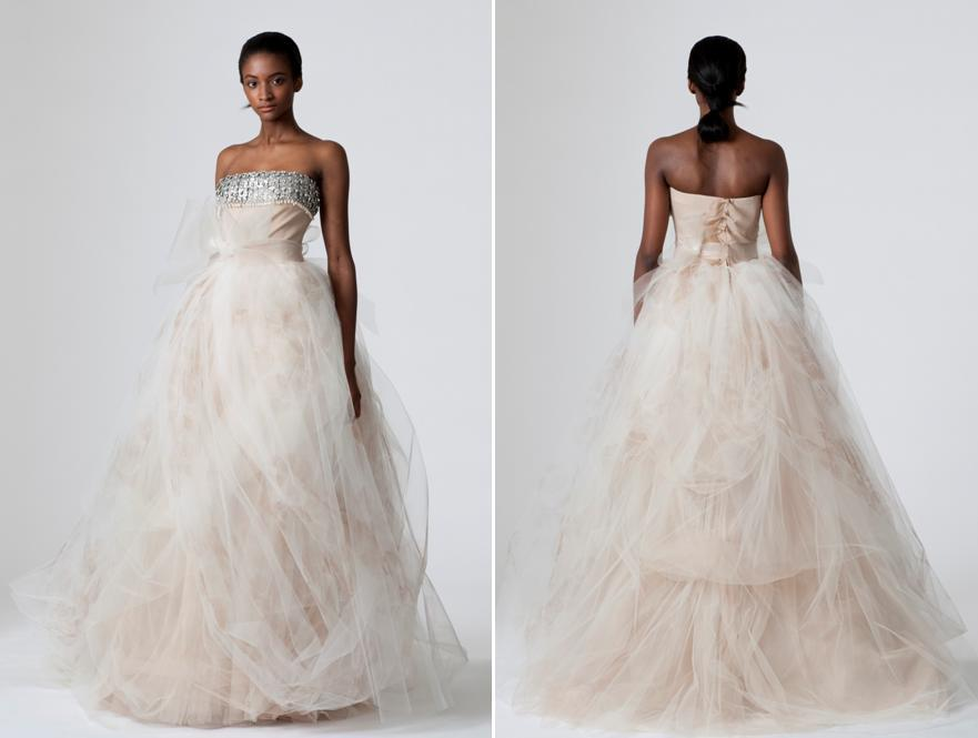 Pink Vera Wang Wedding Dress Fashion Dresses