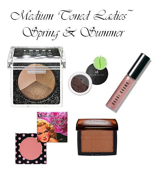 Best make-up colors for medium toned skin during spring or summer- golds, champagnes, bronze and bro