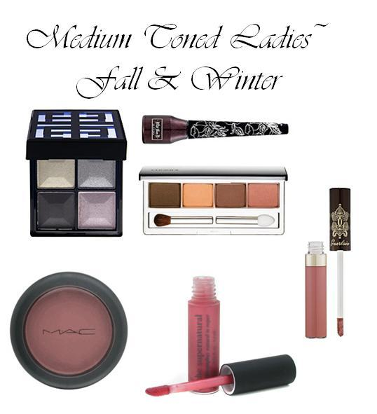 Best make-up colors for medium skin tones: deep golds, chocolate brown, mauve and light red