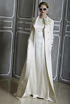 and stylish full length Carolina Herrera coatdress perfect for a