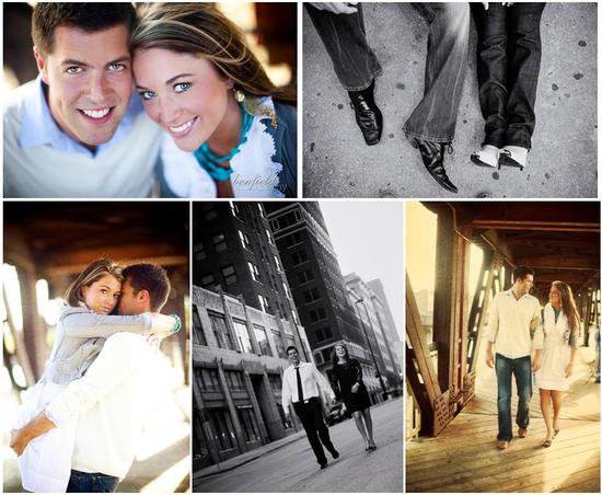 Beautiful young bride and groom in white, grey and turquoise at their Oklahoma engagement session
