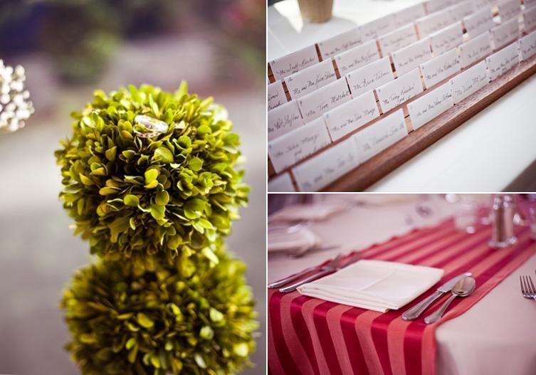 White-red-tablescape-outdoor-wedding-ceremony-diamond-wedding-bands-sit-on-top-green-circular-plant.full