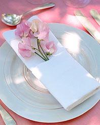 photo of Bubbly Bride: Napkin Decor At Your Wedding Reception